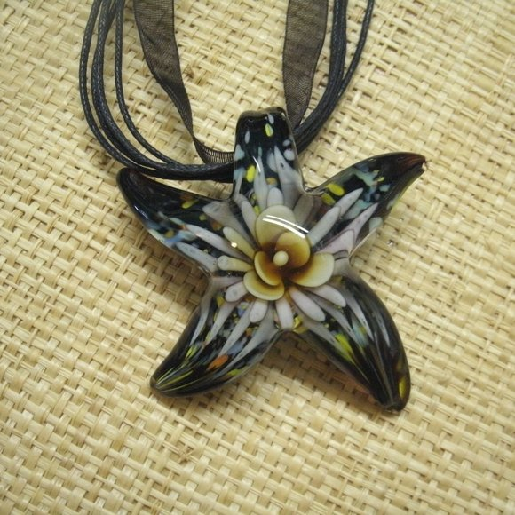 Sacred Journey Designs Jewelry - Murano Glass Floral Starfish Necklace